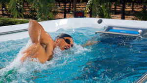 sistema de helices endless pool swim spa