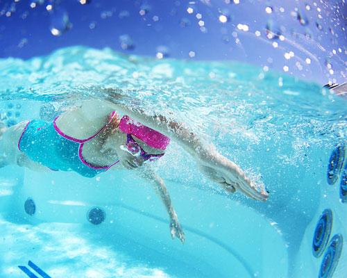 sistema de natación a chorro spa