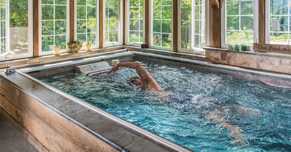 Cómo entrenar triatlón en casa con una piscina contracorriente
